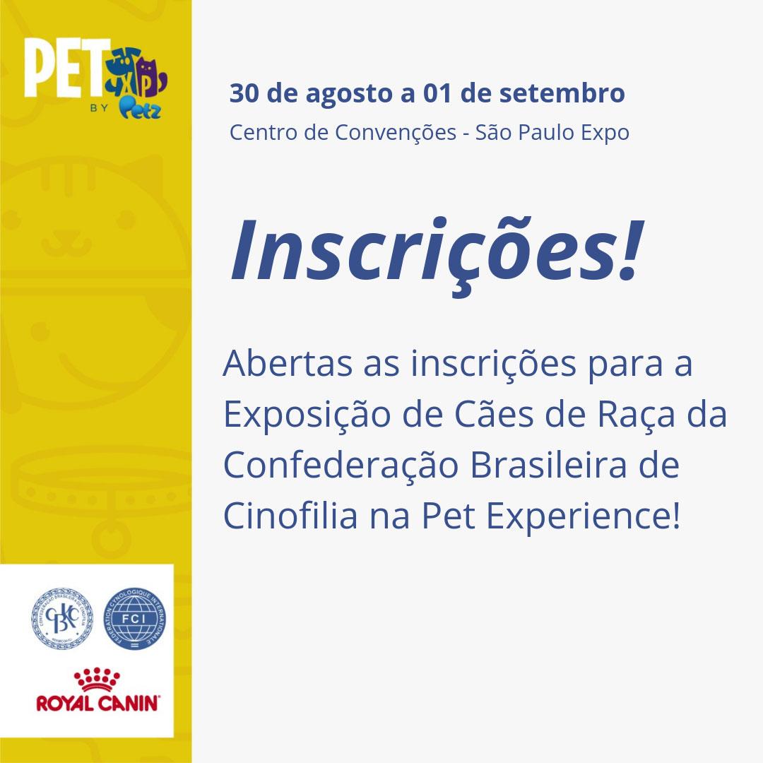Convite Exposição CBKC Pet Expirence