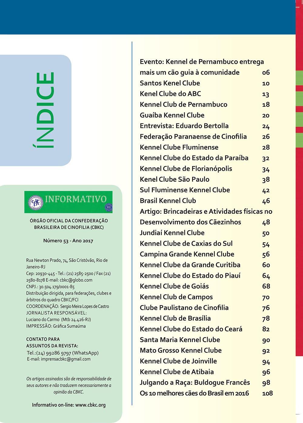 Pagina 2  Edição 53 do Informativo CBKC