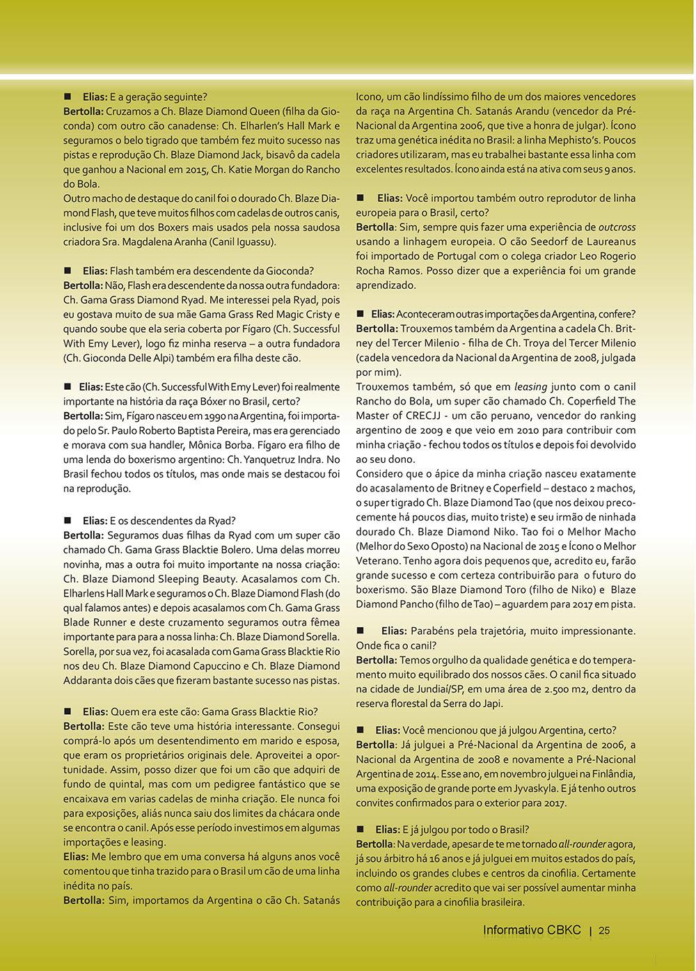 Pagina 25  Edição 53 do Informativo CBKC