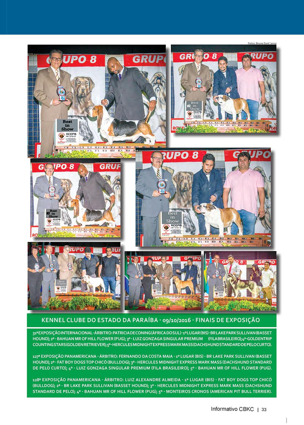 Pagina 33  Edição 53 do Informativo CBKC