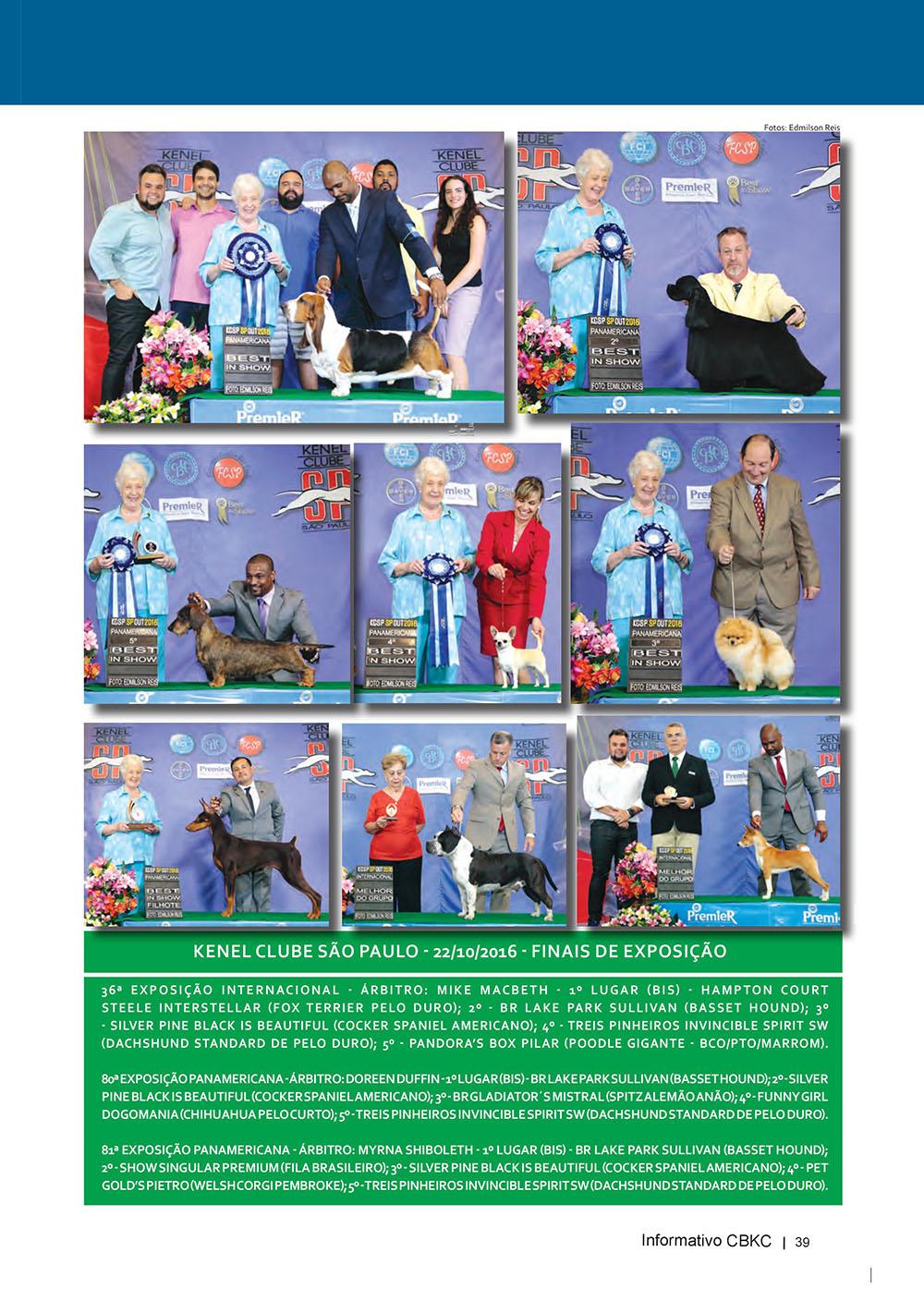 Pagina 39  Edição 53 do Informativo CBKC