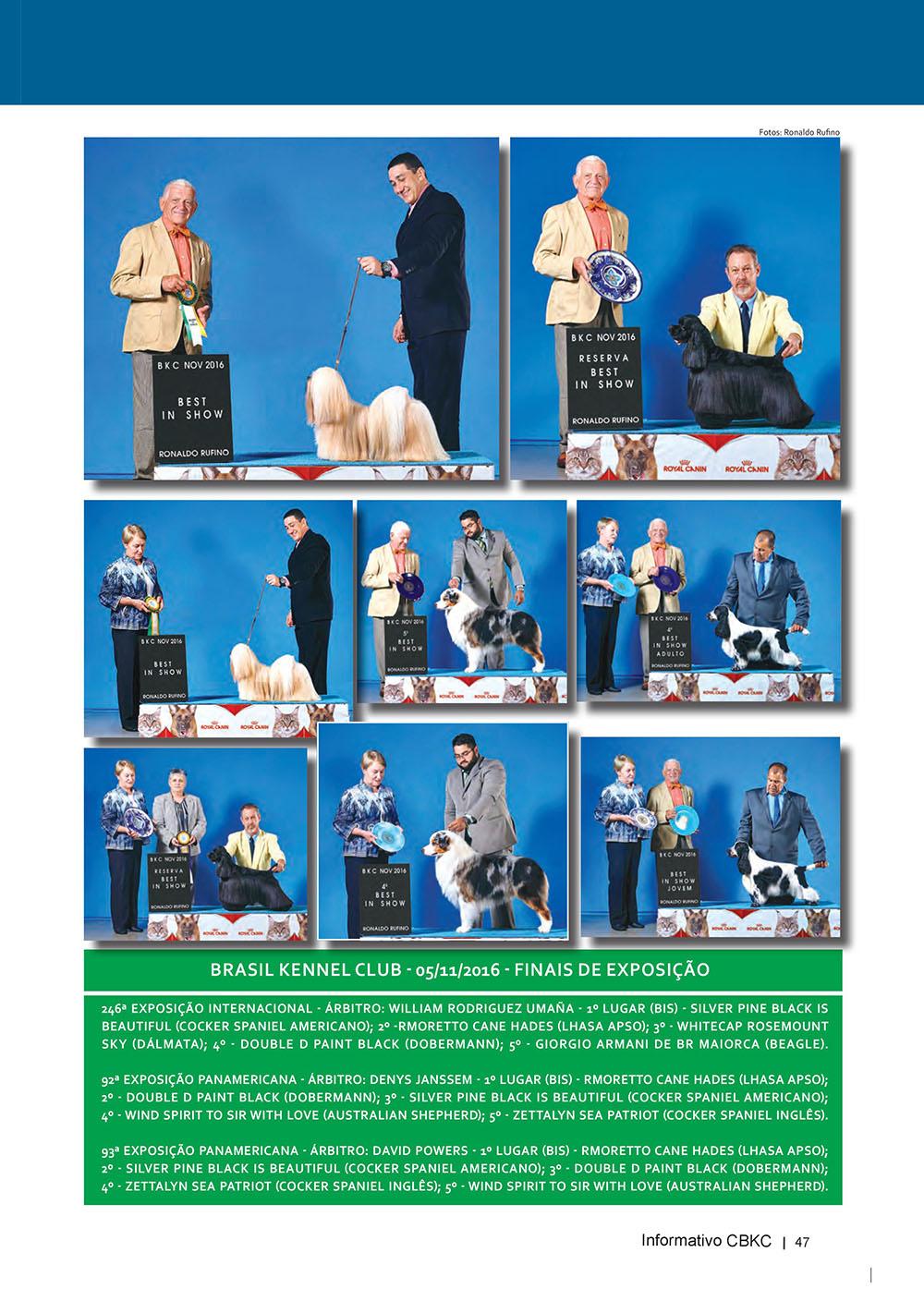 Pagina 47  Edição 53 do Informativo CBKC