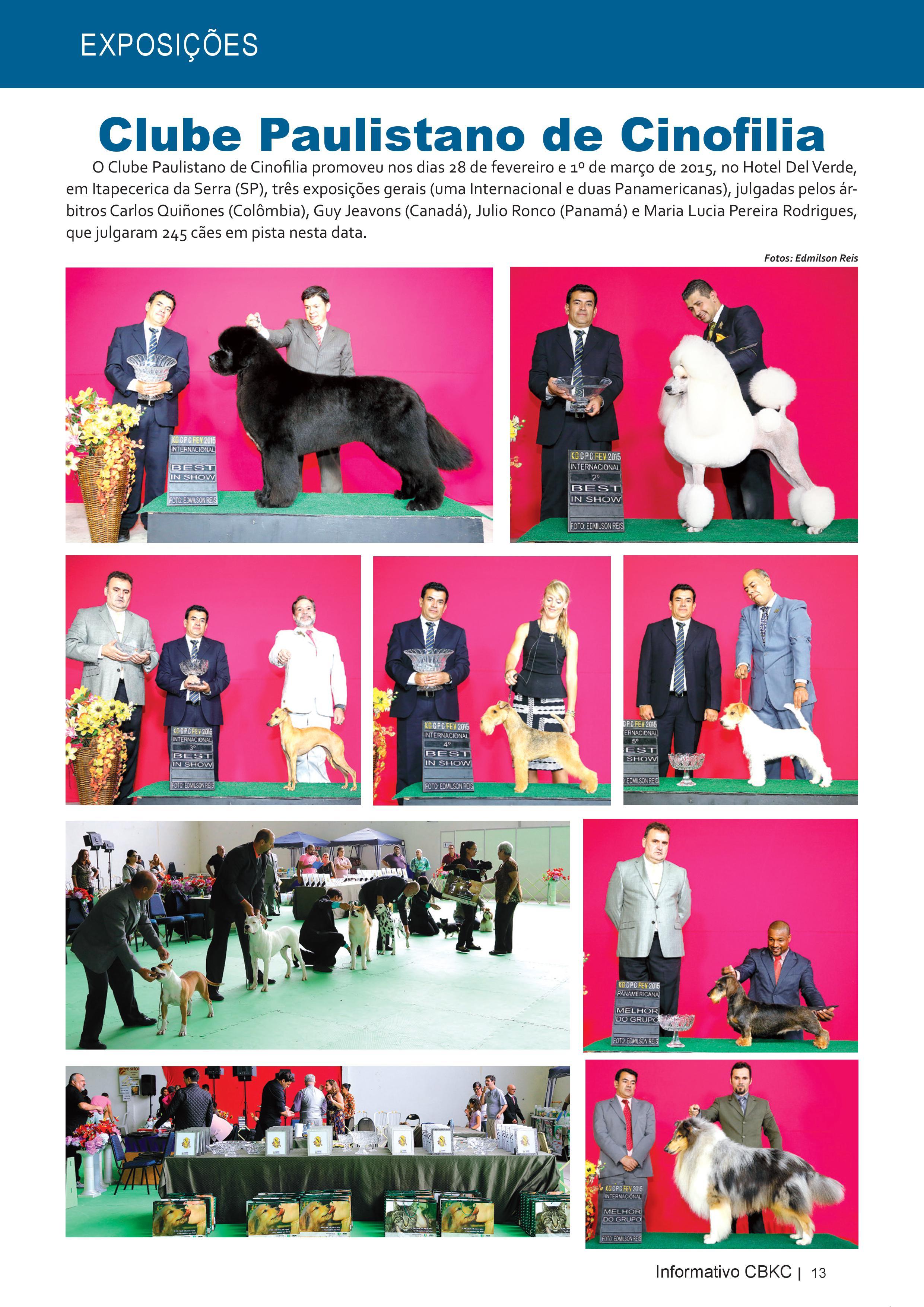 Pagina 13| Edição 50 do Informativo CBKC