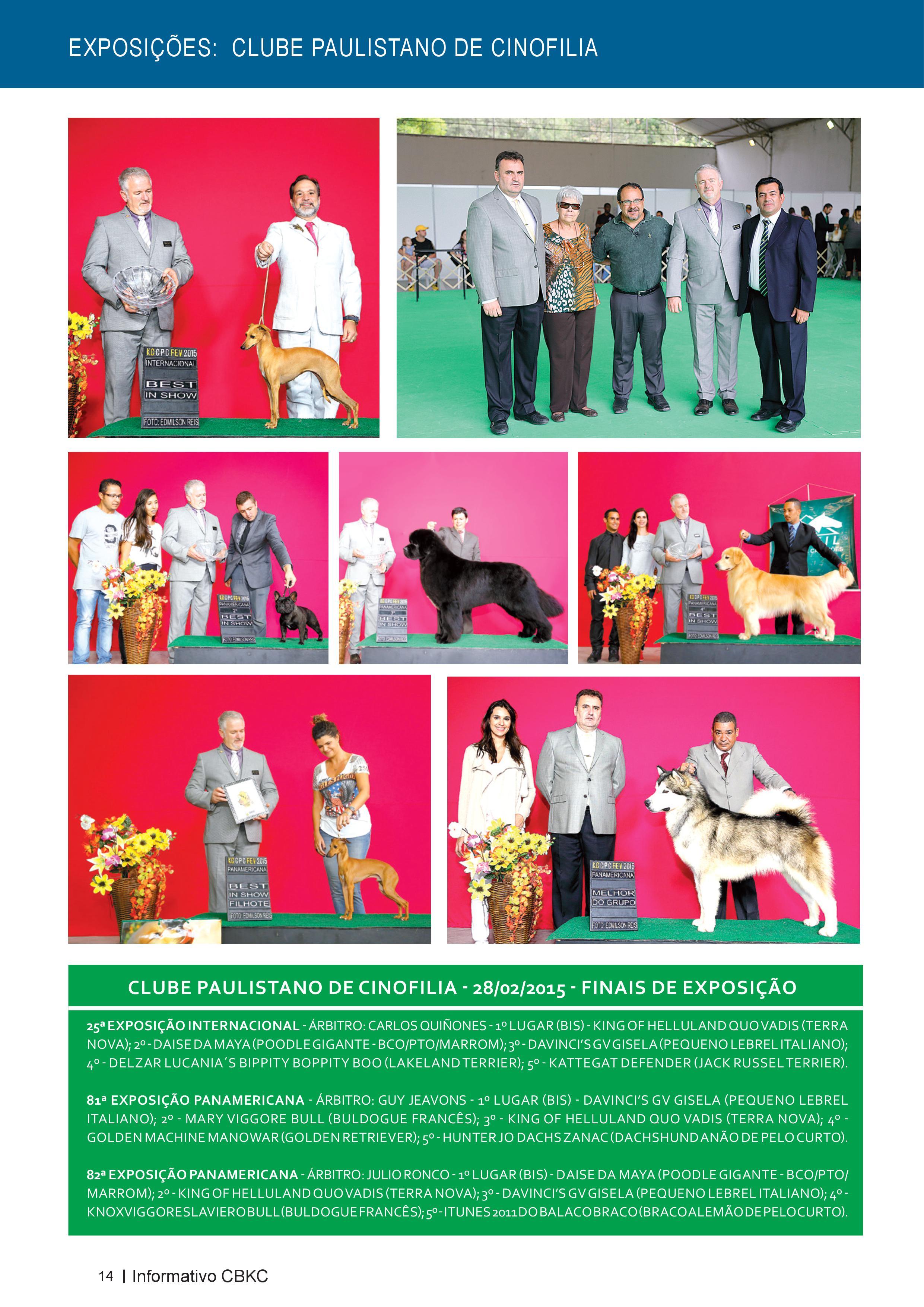 Pagina 14| Edição 50 do Informativo CBKC