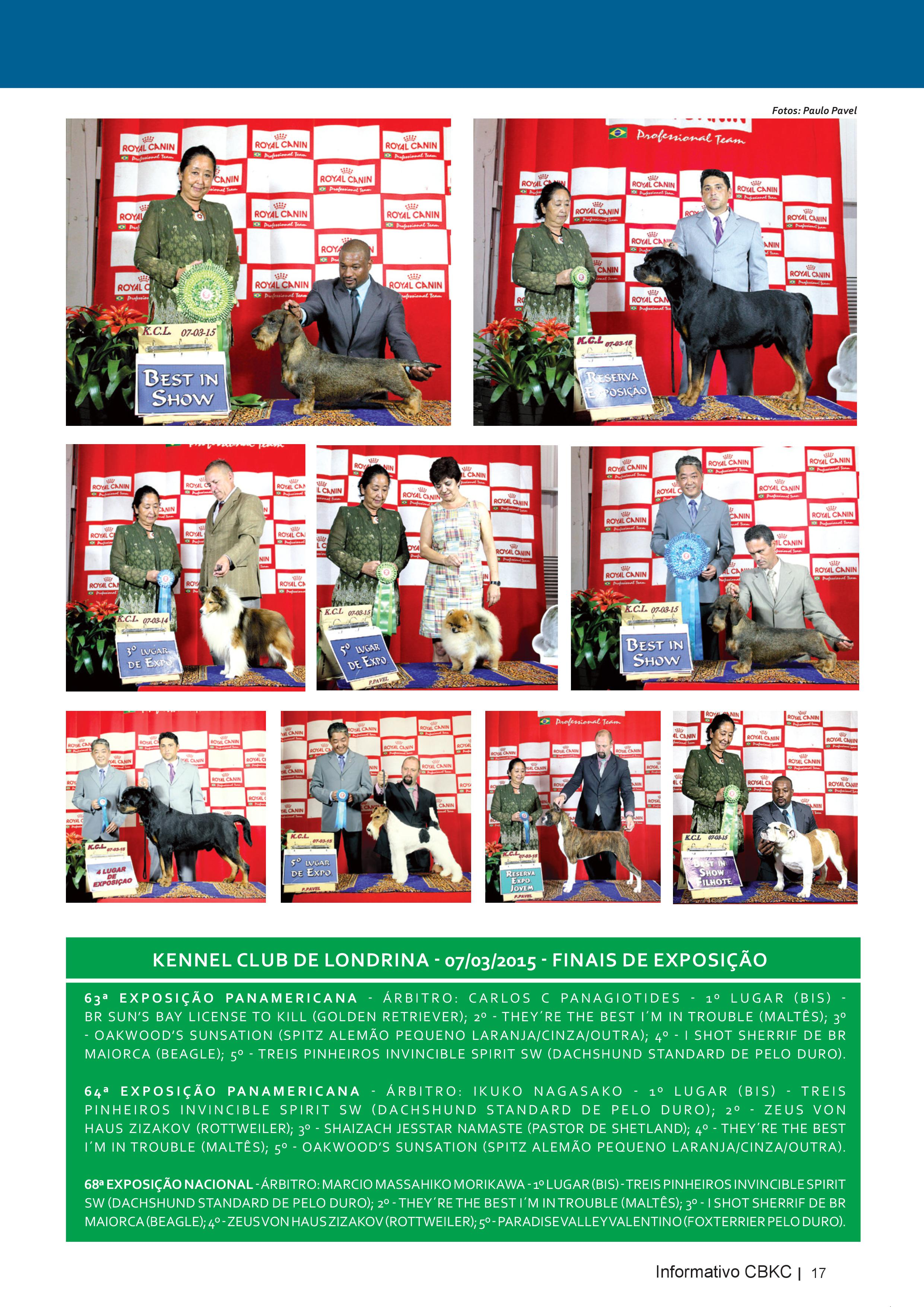 Pagina 17| Edição 50 do Informativo CBKC