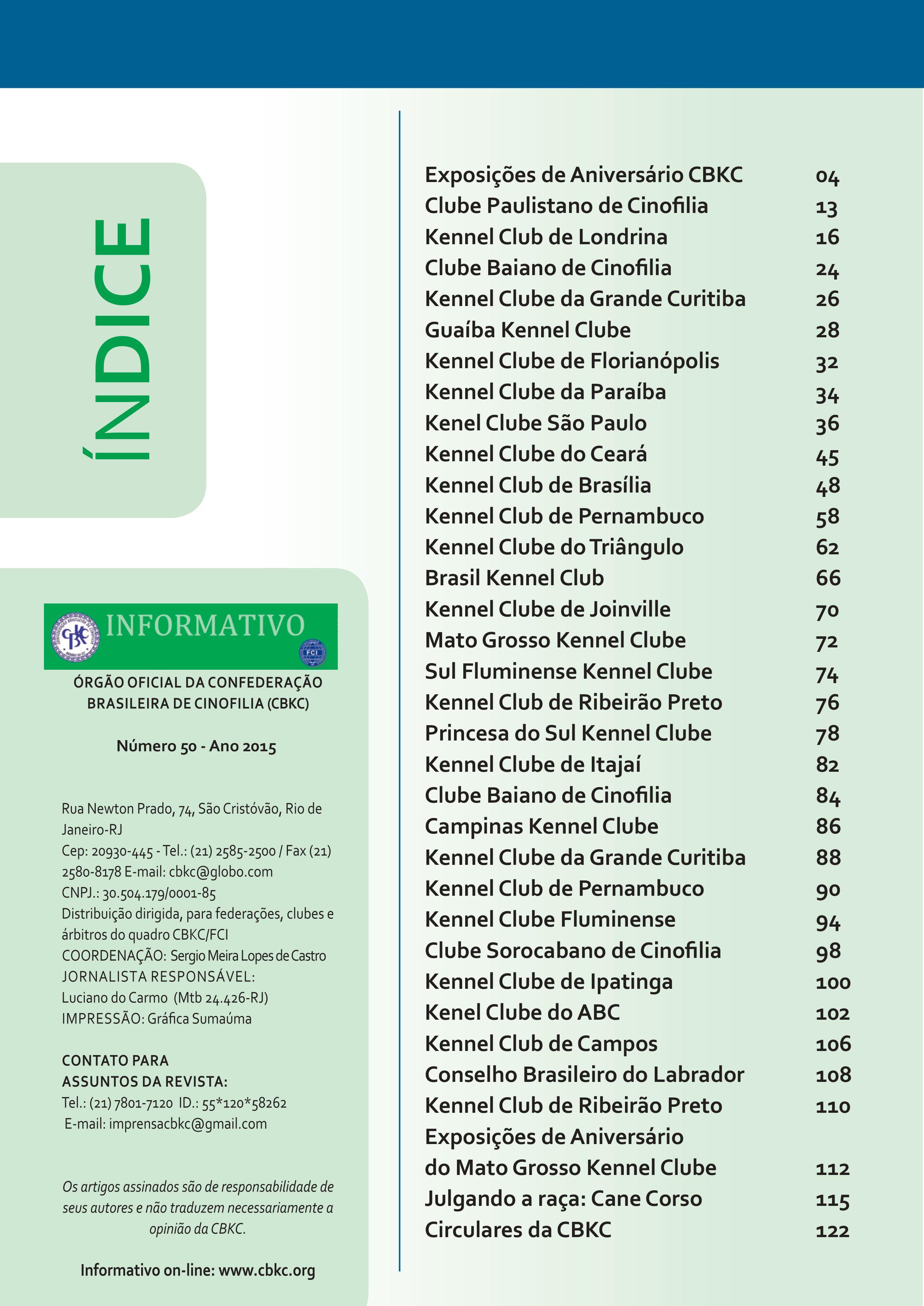 Pagina 2| Edição 50 do Informativo CBKC