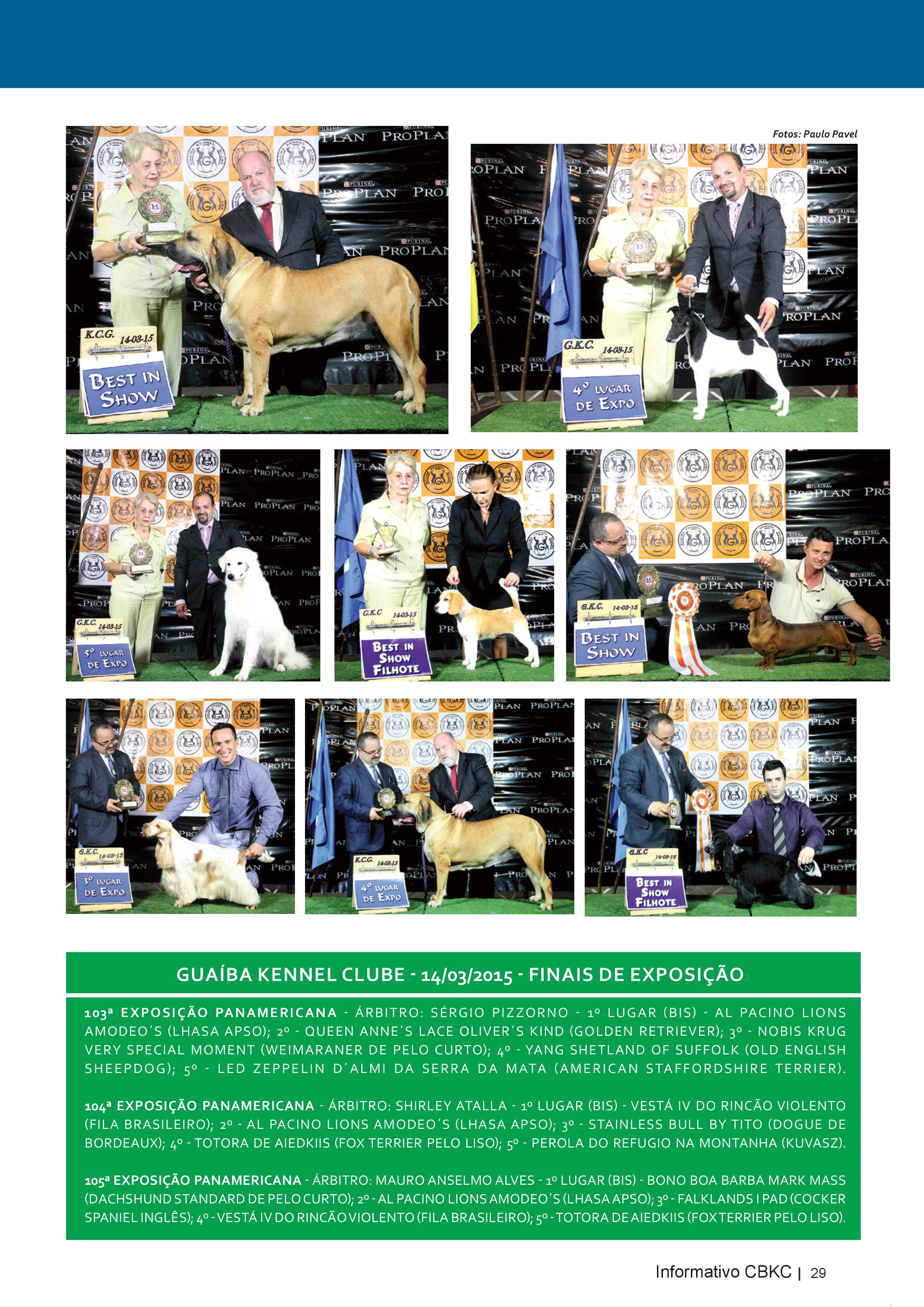 Pagina 29| Edição 50 do Informativo CBKC