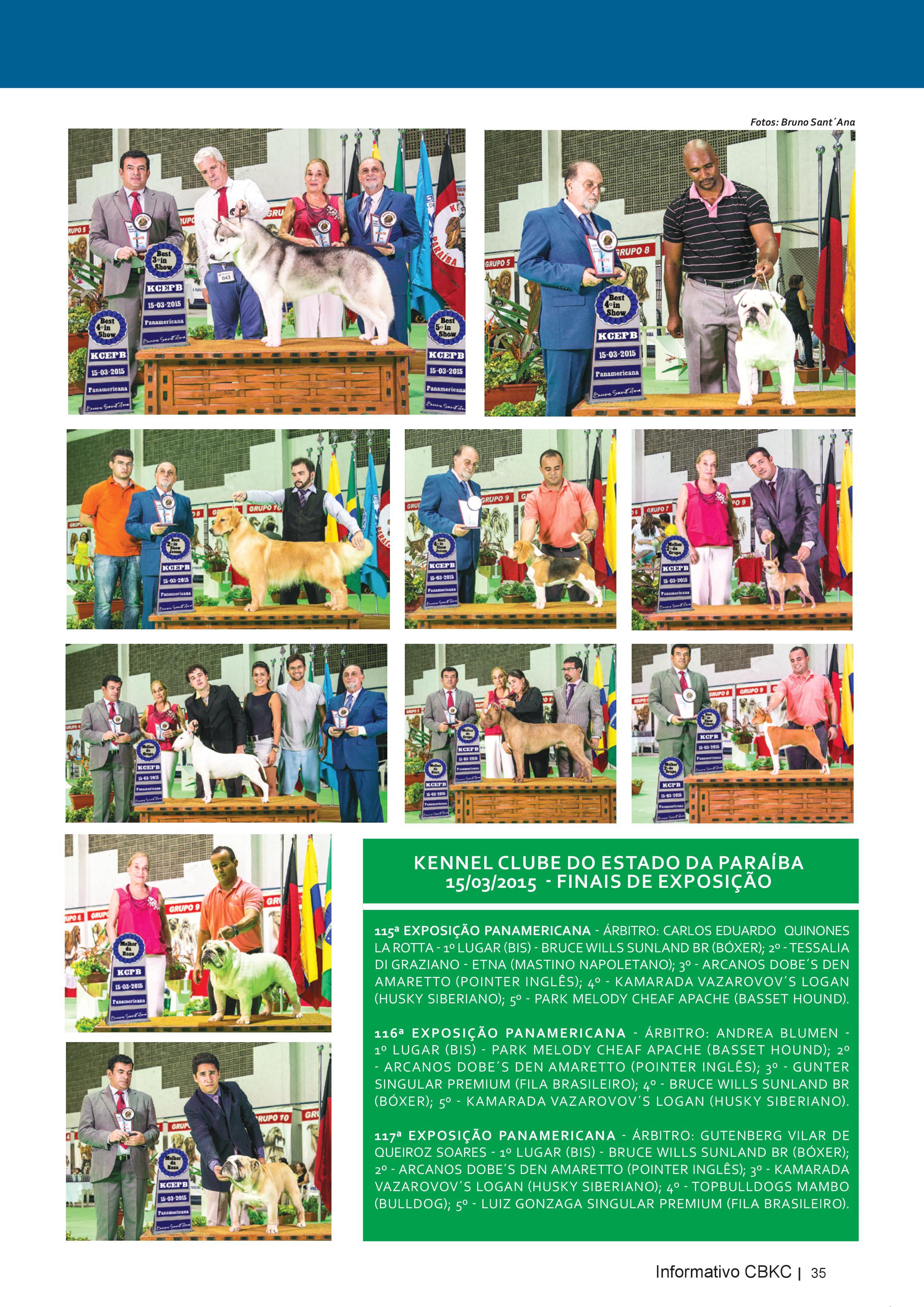 Pagina 35| Edição 50 do Informativo CBKC