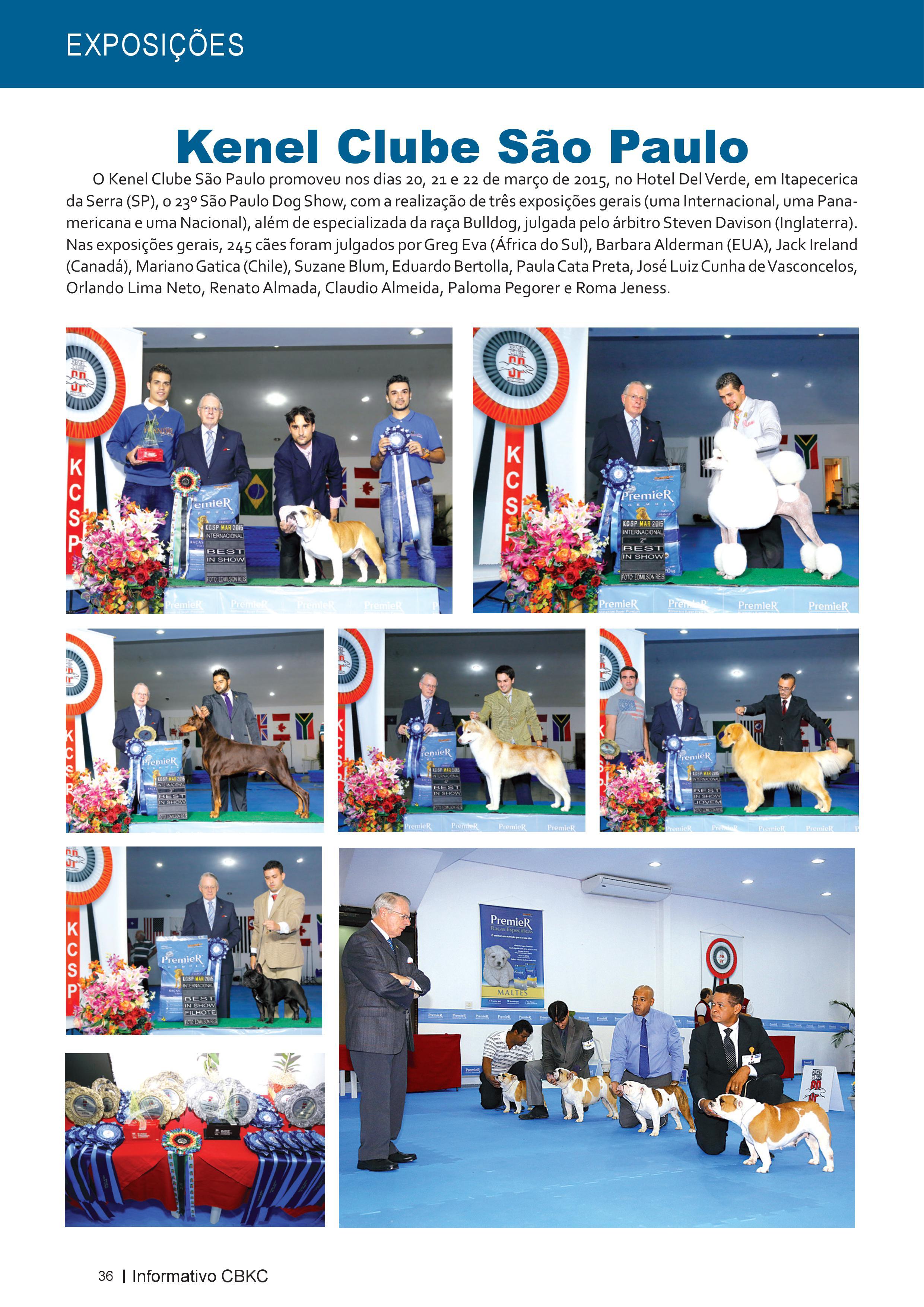 Pagina 36| Edição 50 do Informativo CBKC