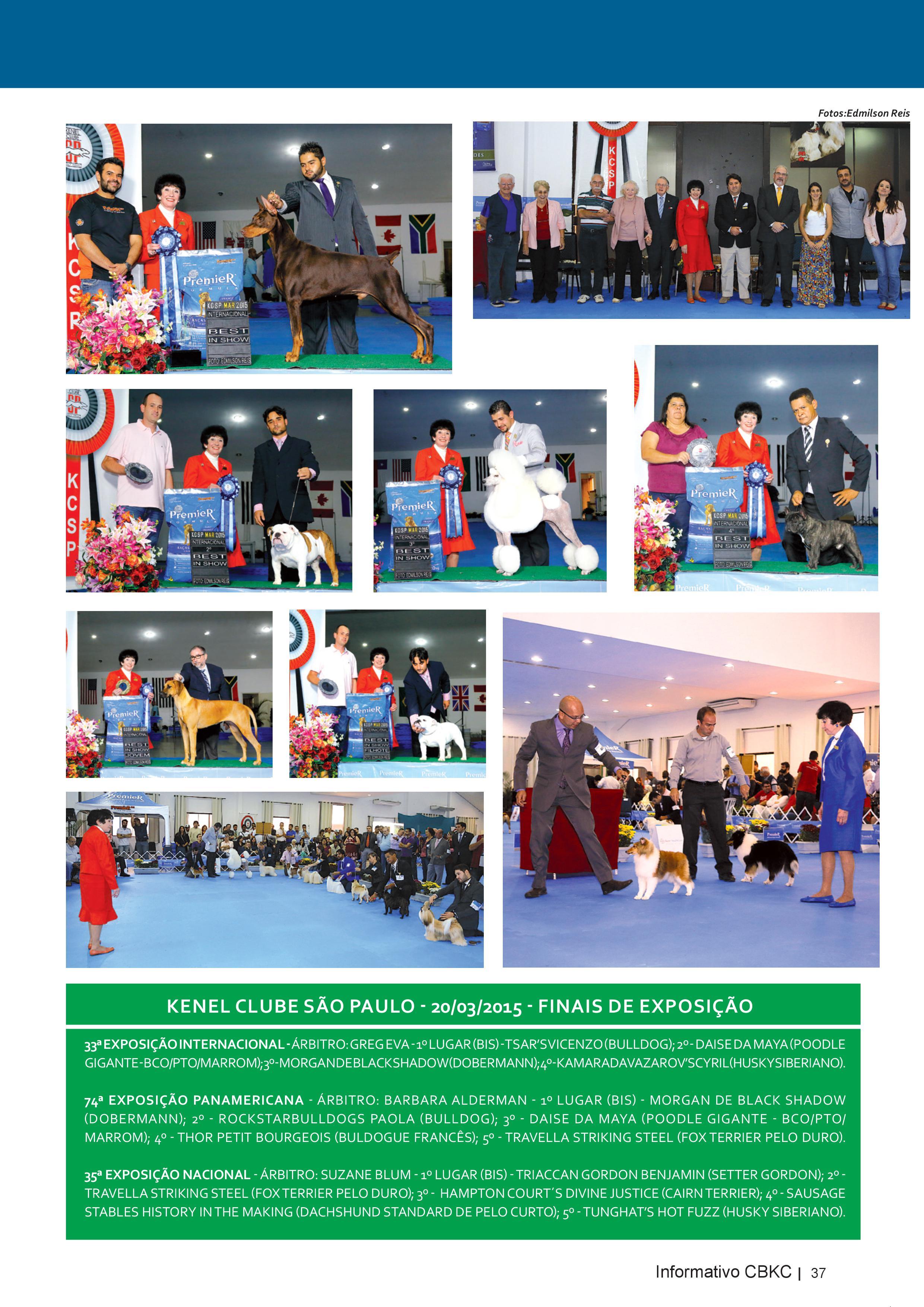 Pagina 37| Edição 50 do Informativo CBKC