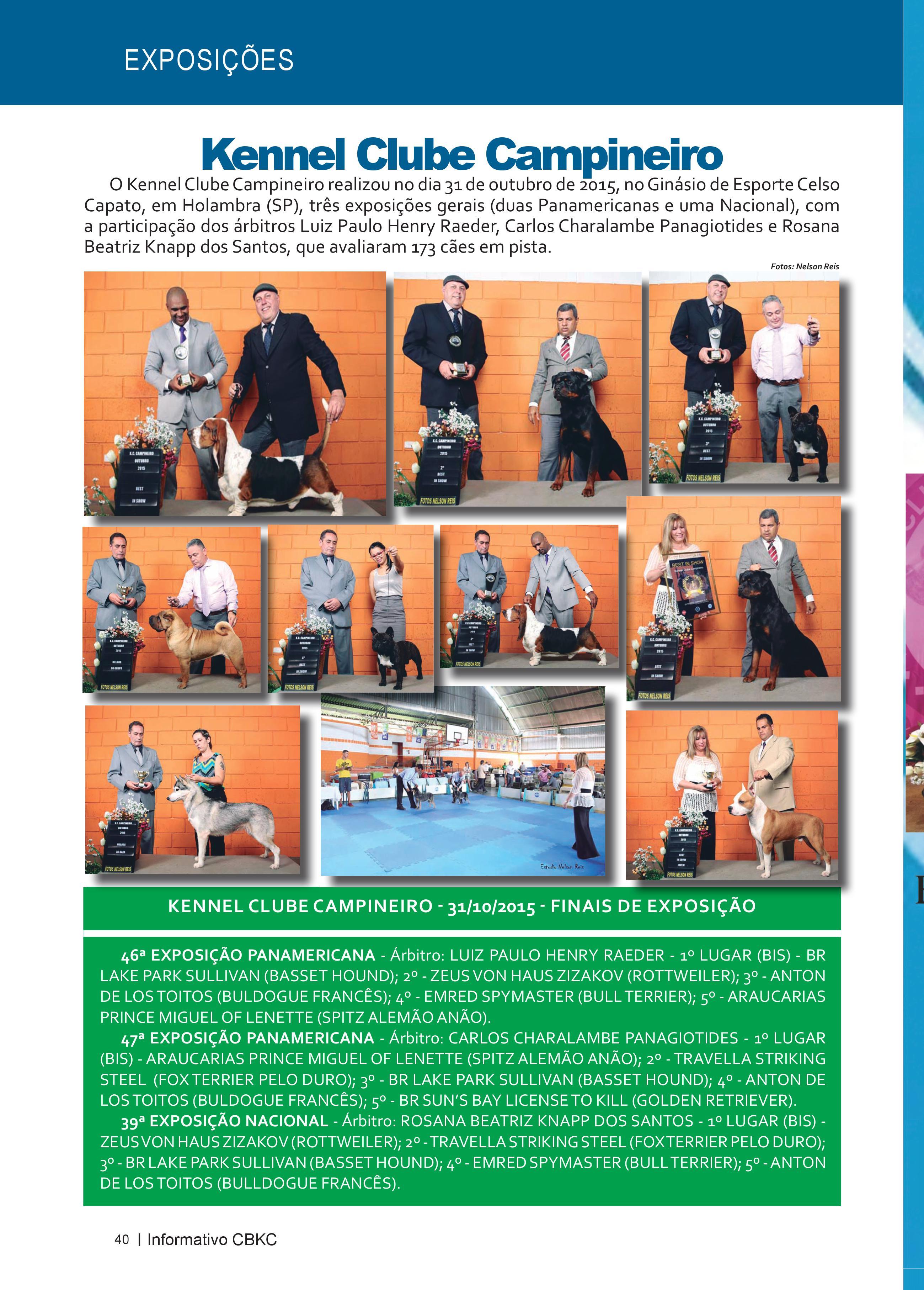 Pagina 40| Edição 51 do Informativo CBKC