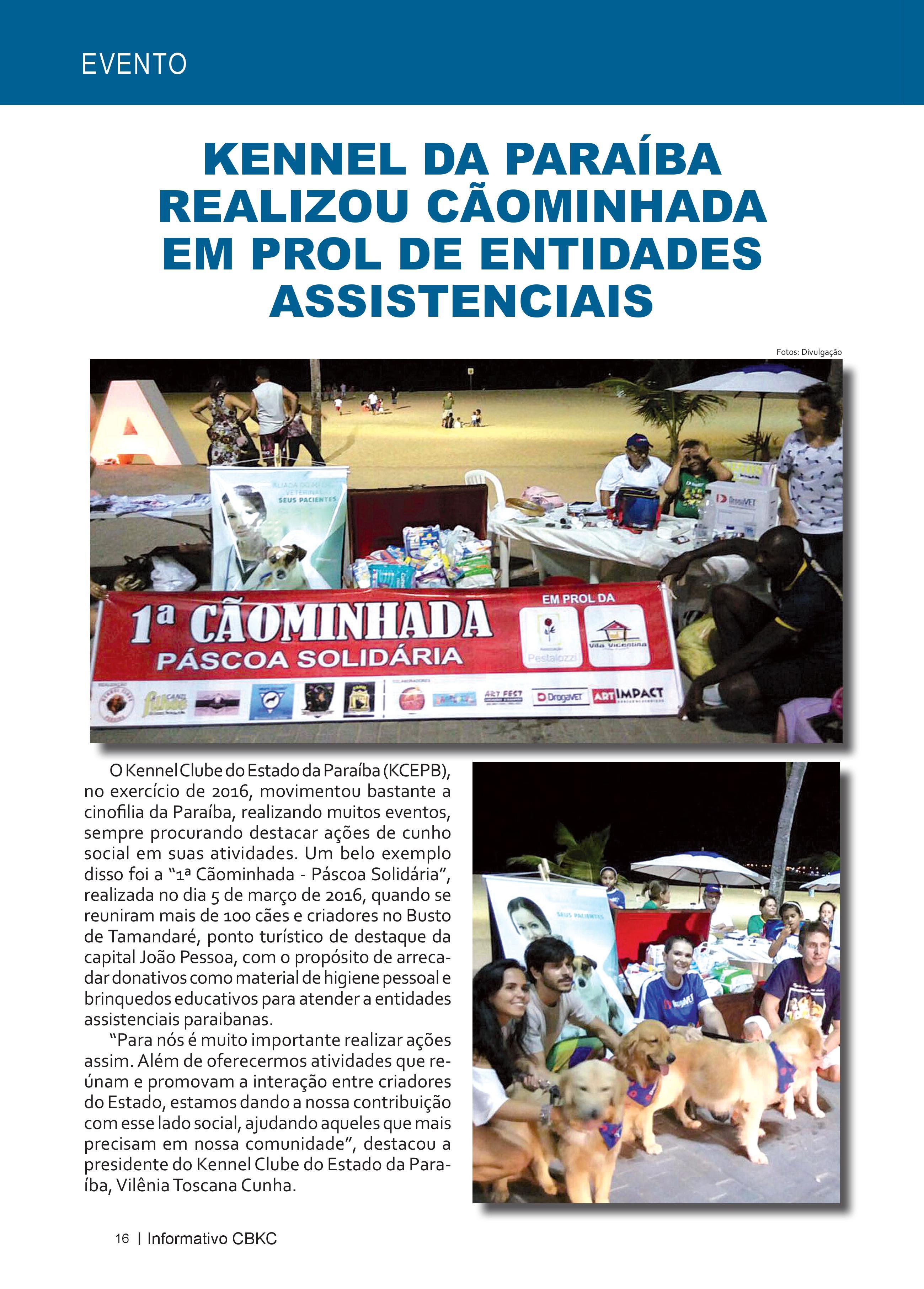 Pagina 16| Edição 52 do Informativo CBKC