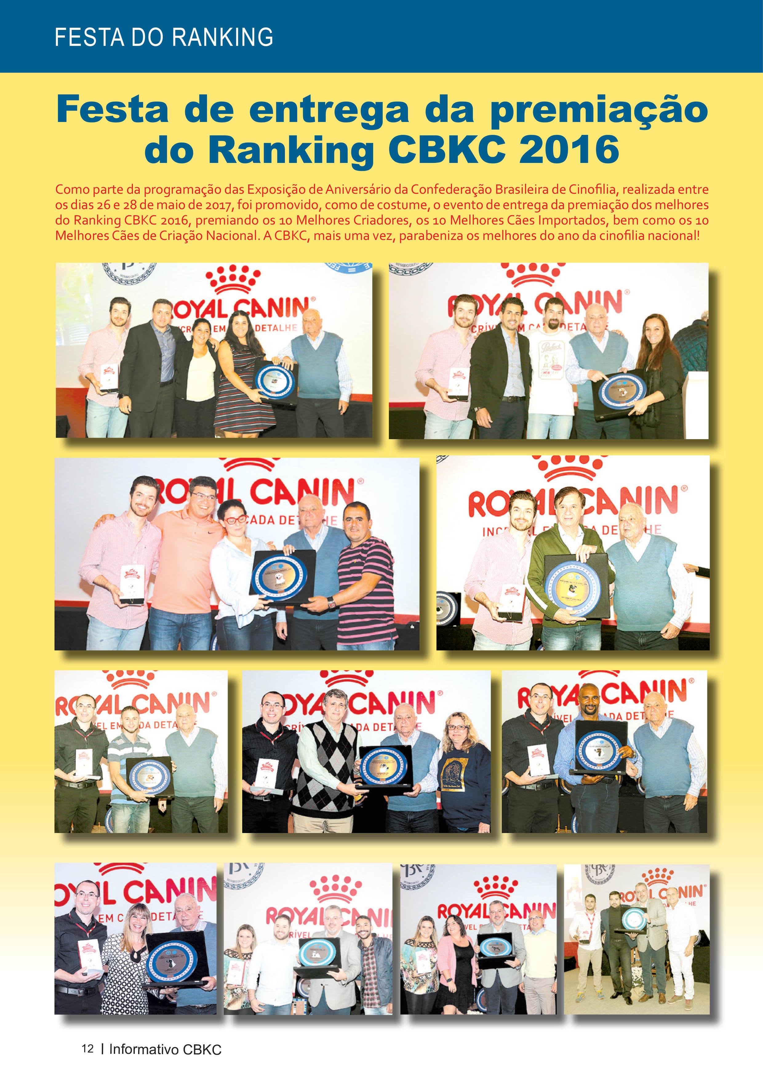Pagina 12| Edição 54 do Informativo CBKC