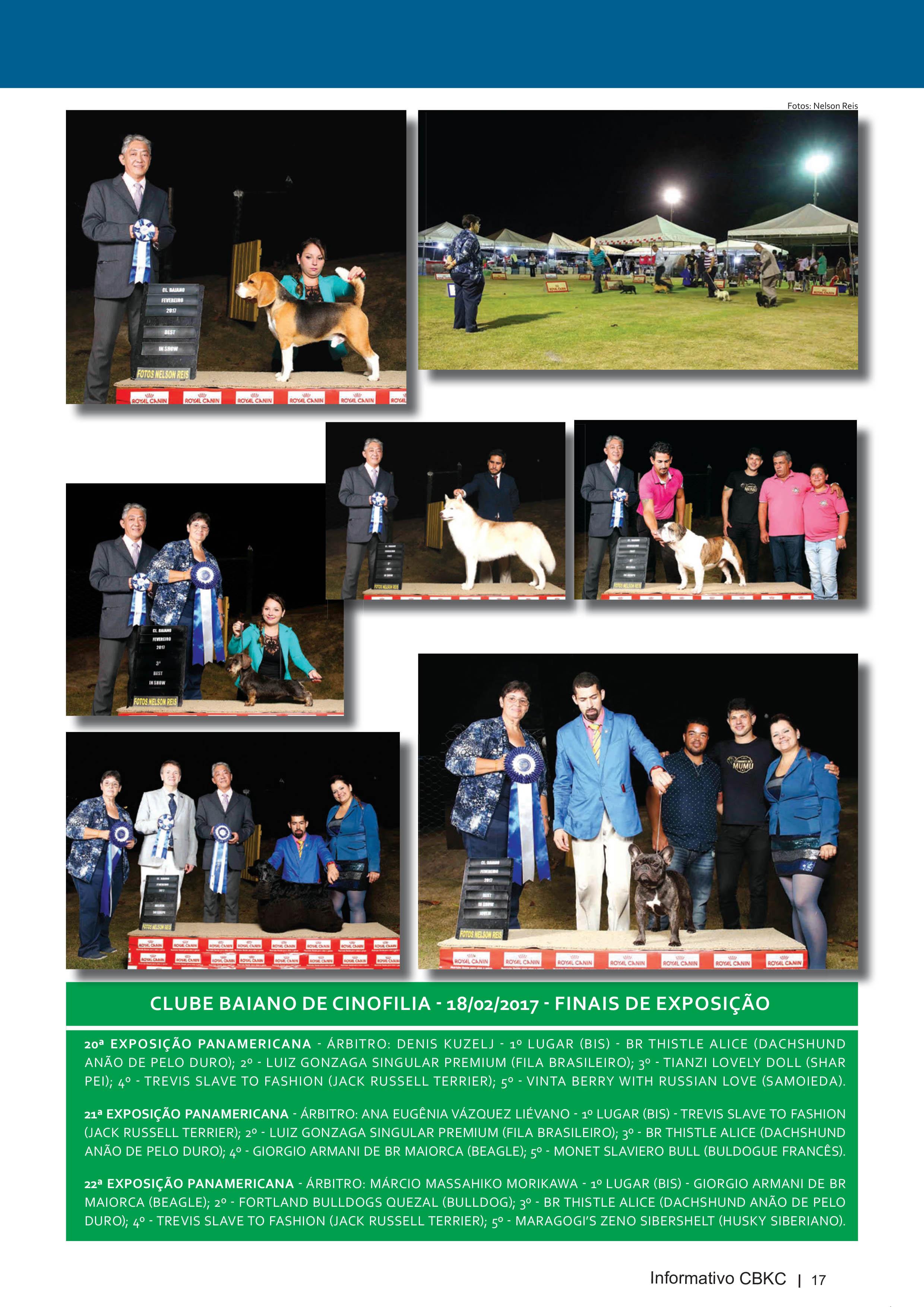 Pagina 17| Edição 54 do Informativo CBKC