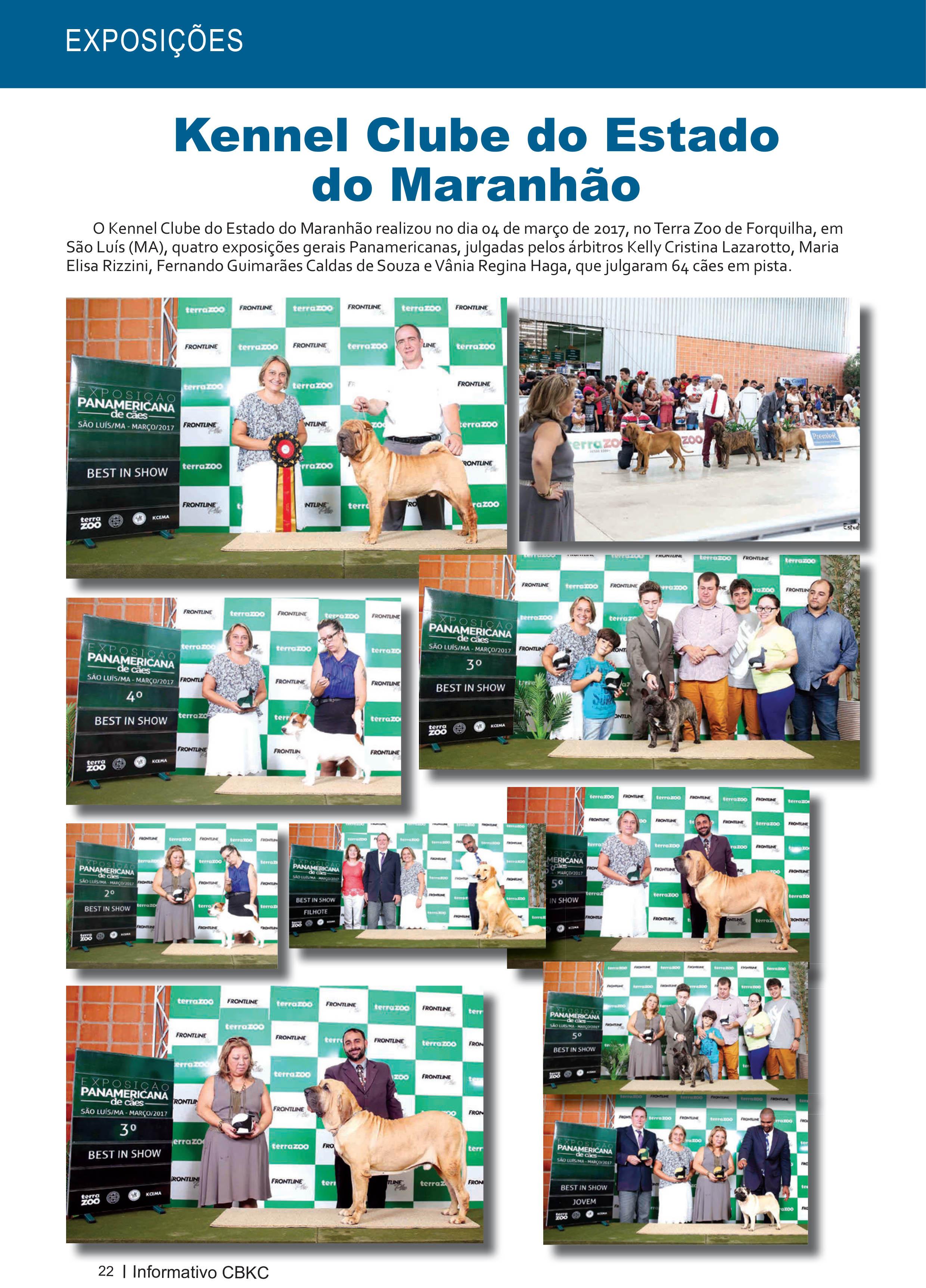 Pagina 22| Edição 54 do Informativo CBKC