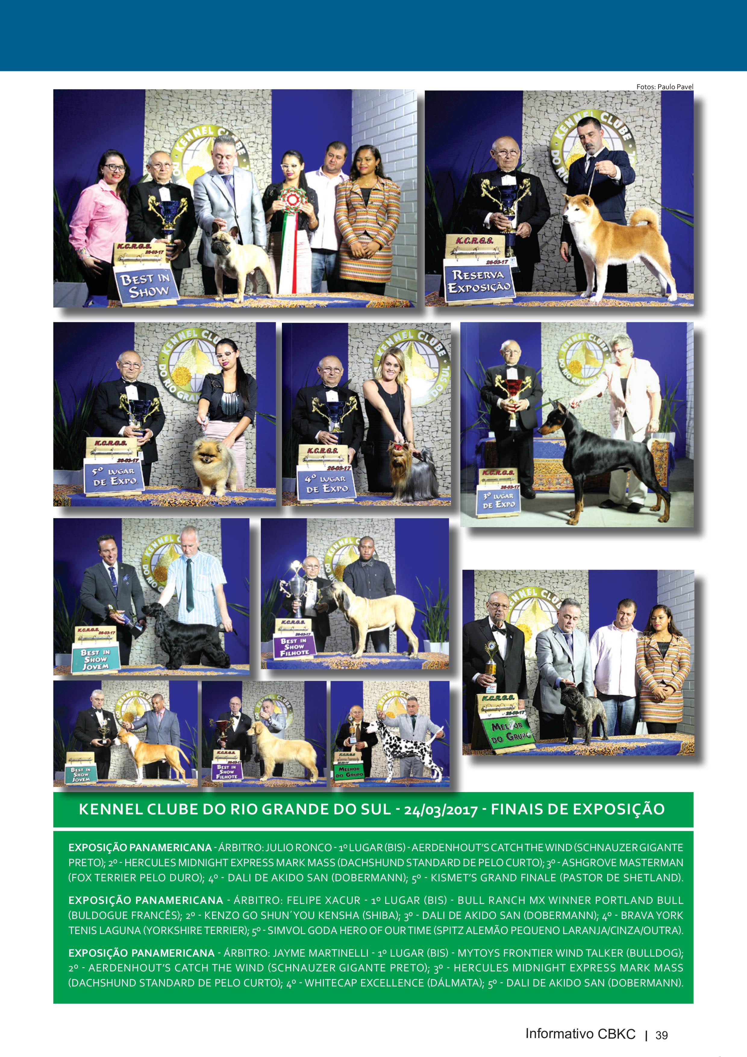 Pagina 39| Edição 54 do Informativo CBKC