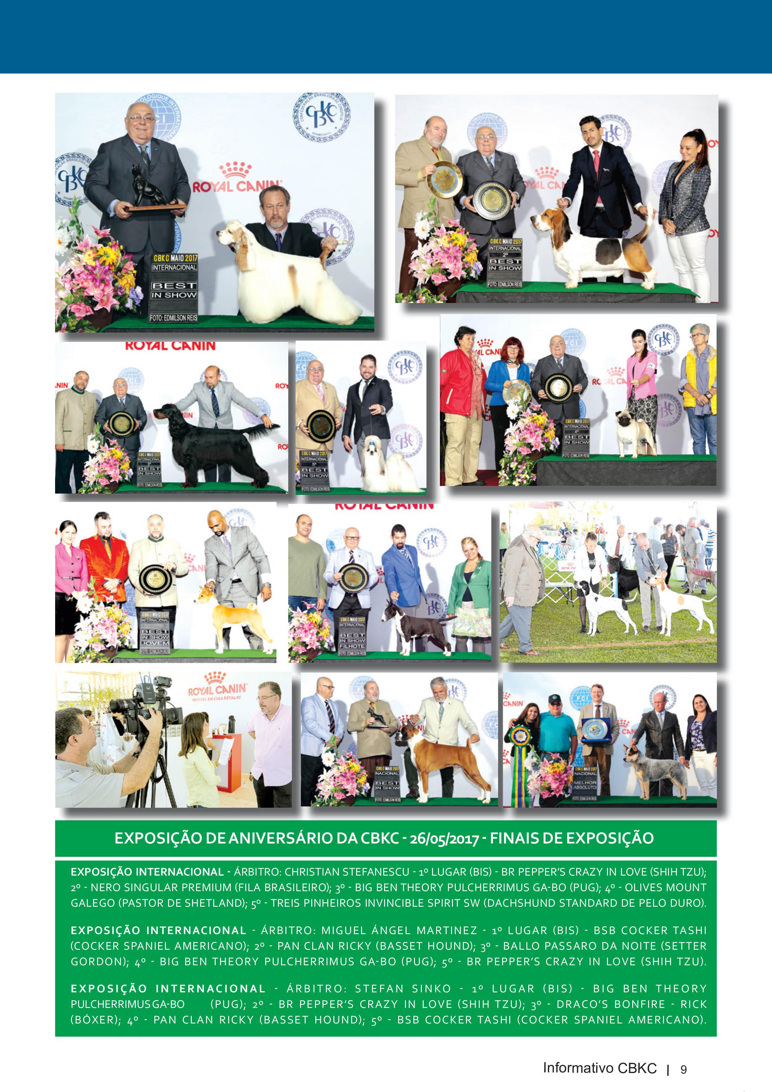 Pagina 9| Edição 54 do Informativo CBKC