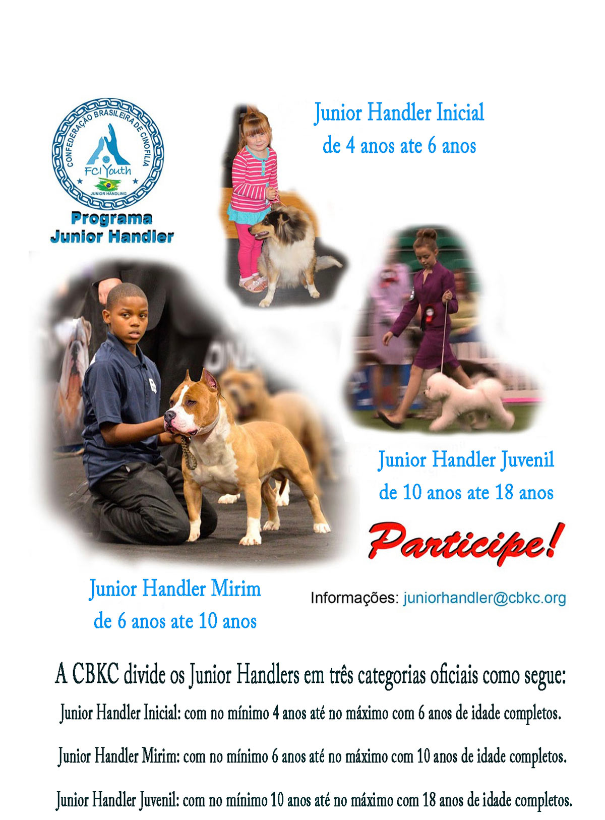 Participe do Programa Junior Handling CBKC
