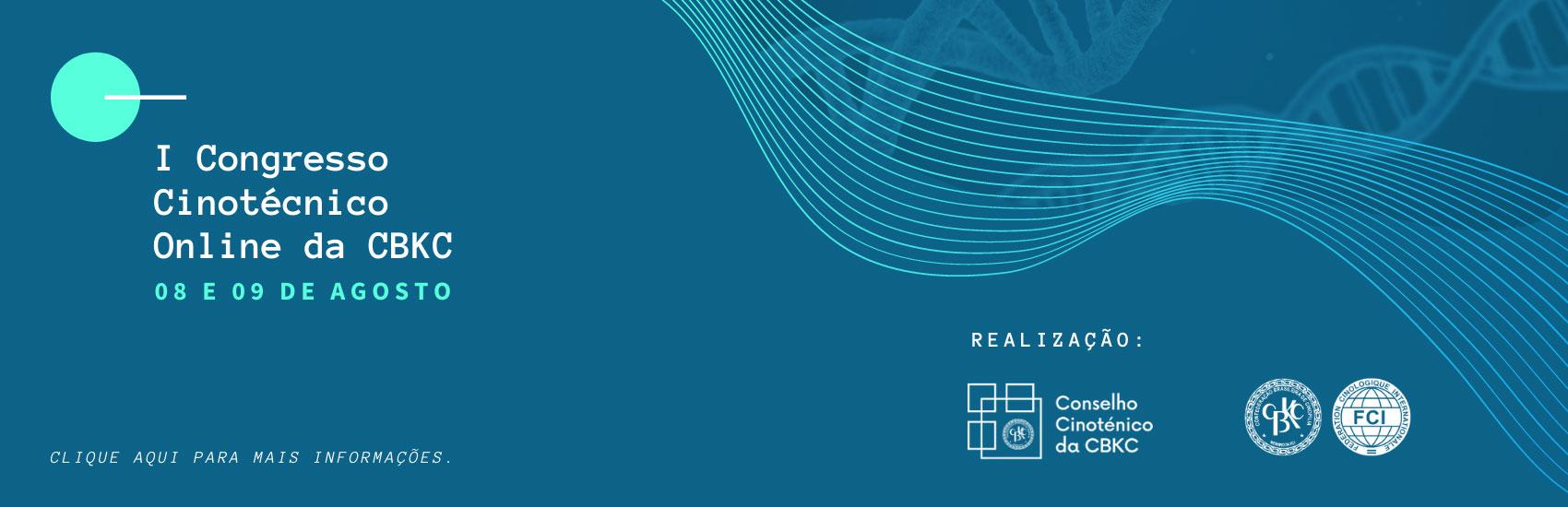 1º Congresso Cinotécnico Online da CBKC-15/07/2020