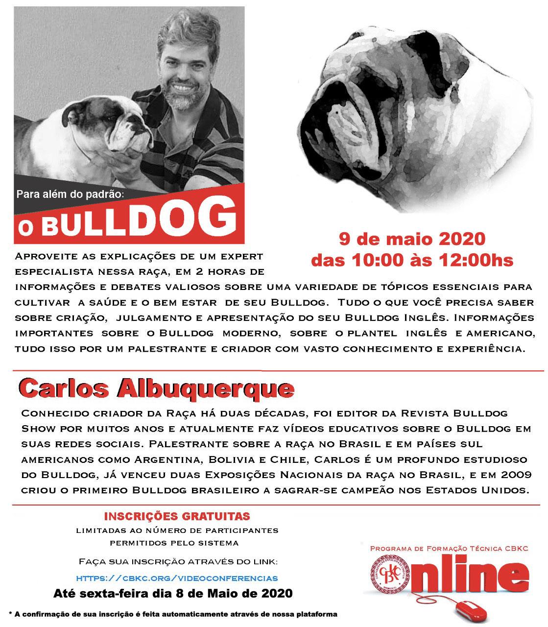 Imagem Videoconferências CBKC: 'Para Além do Padrão: O Bulldog'