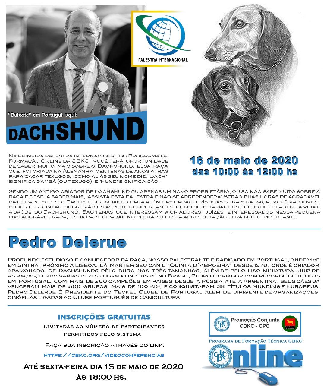 Imagem Videoconferências CBKC: Baixote em Portugal, aqui: Daschshund