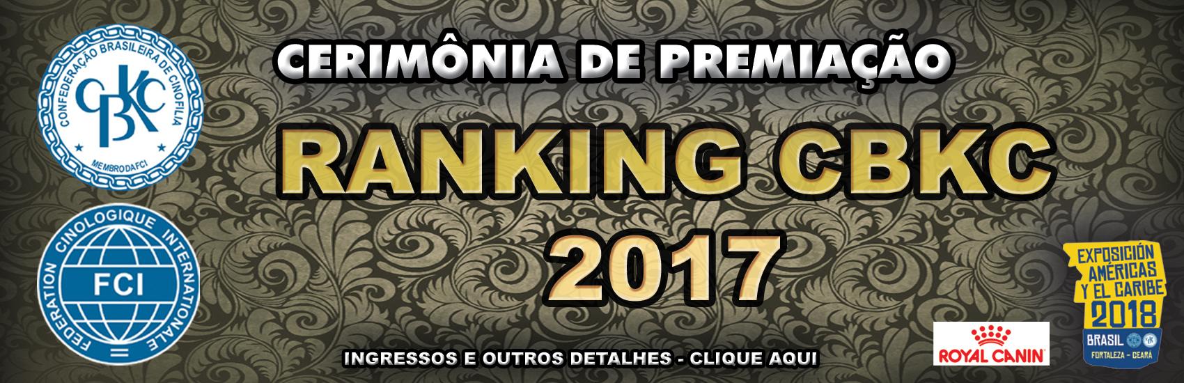 Cerimônia de Premiação Ranking 2018