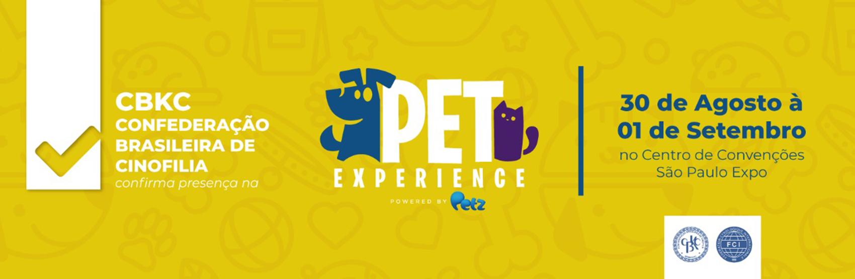 Exposição CBKC - Pet Experience 2019.