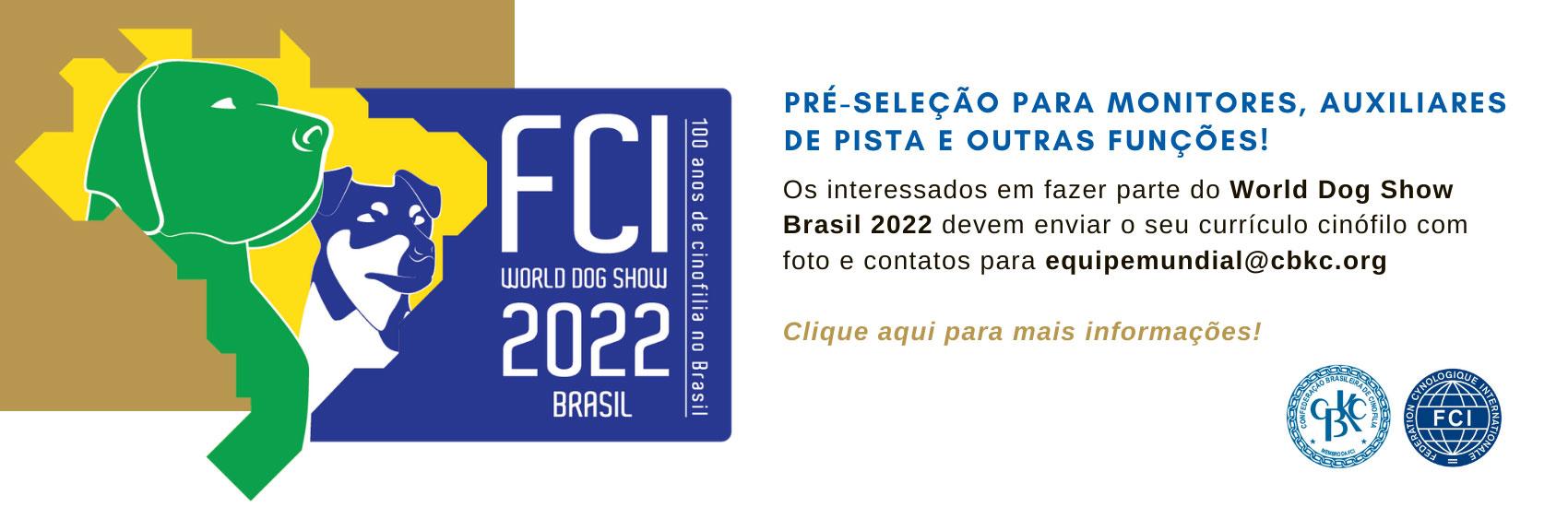 CBKC - Pre seleção de árbitros WDS 2022.