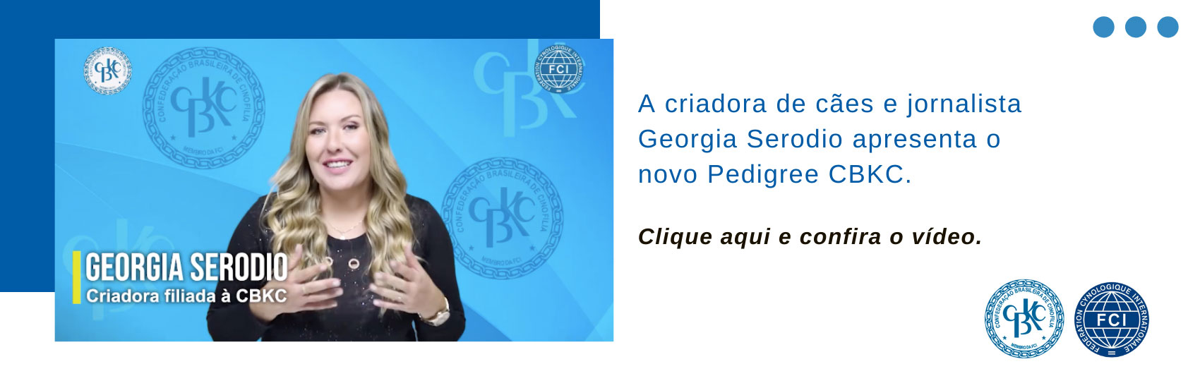 CBKC - Video sobre Pedigree CBKC.