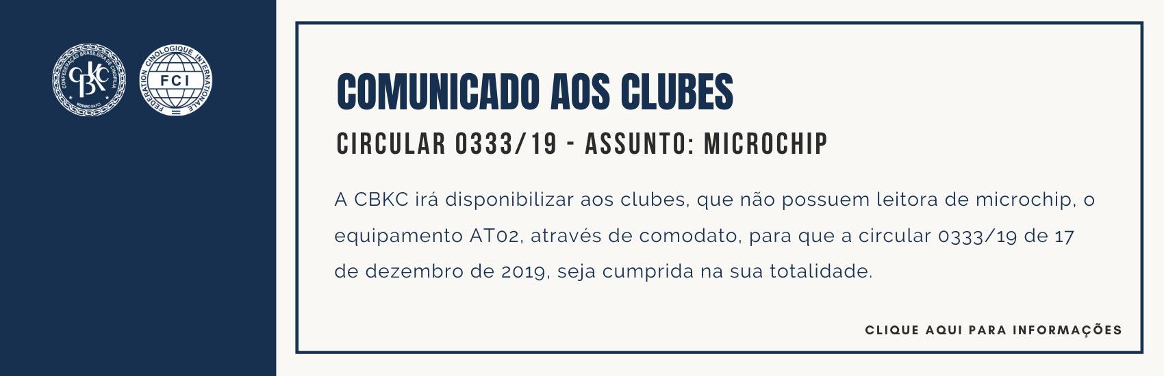 CBKC - Circular 334/19 - Microchip.