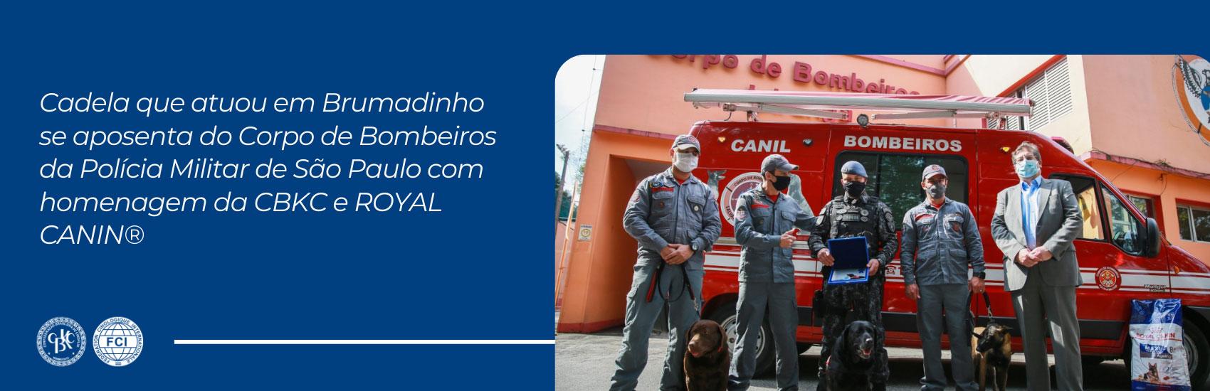 CBKC - Homenagem ao cão de resgate de Brumadinho